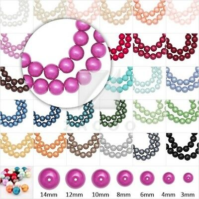 4/6/8/10mm Glass Pearl spacer Round Loose beads Jewelry Finding wholesale