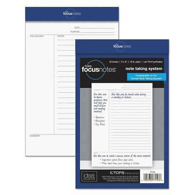 TOPS FocusNotes Legal Pad, 5 x 8, White, 50 Sheets 025932771538