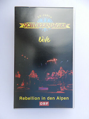 VHS Video Kassette Zillertaler Schürzenjäger live Rebellion in den Alpen ORF