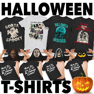 MENS HALLOWEEN T-SHIRTS Scary Spooky Fun Costume Fancy Dress Novelty Shirt Top