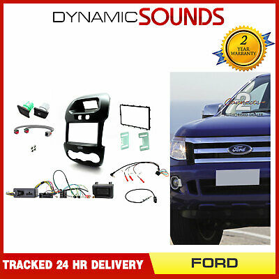 CTKFD40 Double Din Fascia Fitting Kit w// Steering Controls for Ford Ranger 12-16