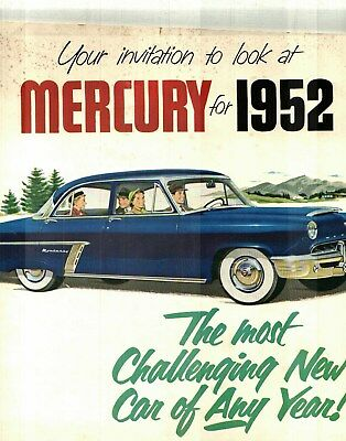 1952 Mercury Full-Line Prestige Color Catalog