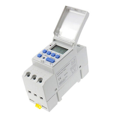 DC 12V Din Rail Weekly LCD Programmable Timer Switch Time Relay Switch