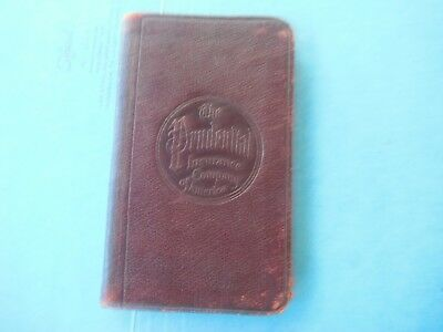Prudential Insurance Memorandum book with 1915 calendar & First aid instruction