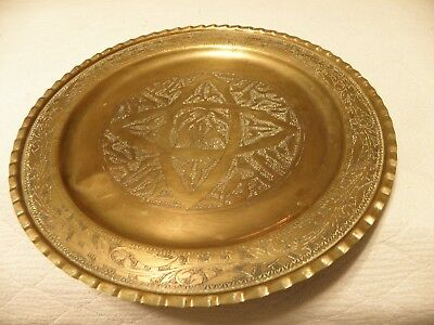 Vintage brass utility tray, marked and made in Tripoli