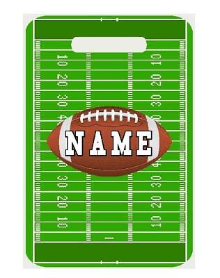 FOOTBALL Theme BAG TAG Personalized Luggage Backpacks Sport Tag 2 Sides  printed 24d399427c27d
