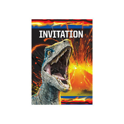 8 Jurassic World Invitations With Envelopes Invites Dinosaurs Birthday Parties