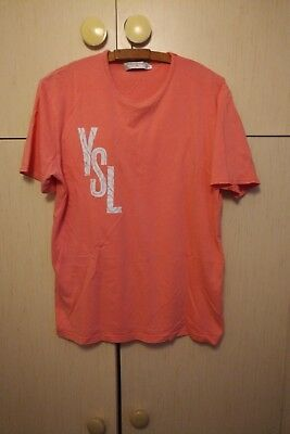 Ysl Yves Saint Laurent Pink Vintage T-Shirt Tee Medium