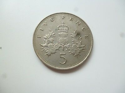 5p 1989 old large style - coin collector coin hunt five pence piece