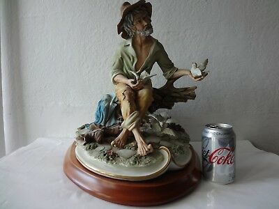 "Huge Vintage Capodimonte Figurine Old Friends by Germano Cortese 15"" 8kg"