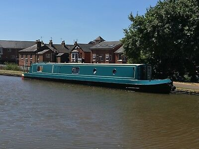 57ft New Narrow Boat in Kingfisher Green
