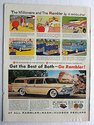 Rambler Auto Ad The Millionaire and the Rambler 1958