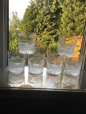 A Signed 1st Quality Stuart Crystal Beaconsfield Set Six Whisky Tumblers Unused
