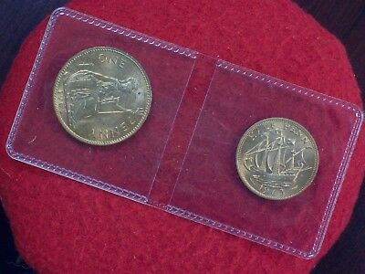 1963 Great Britain Penny and 1/2 Penny  (high grade)
