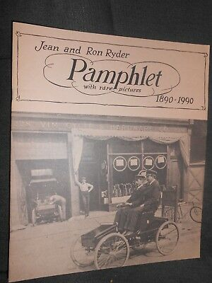 Jean Ron Ryder Pamphlet Rare Pictures Ausable Chasm Hammond Constableville + NY