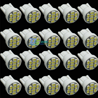 10x White 8 SMD LED License Plate Light T10 168 1206 194 W5W Car Tail Lamp Bulbs