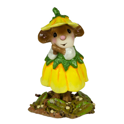 WEE FLOWER MOUSE OF THE MONTH by Wee Forest Folk, WFF# M-640c March Daffodil