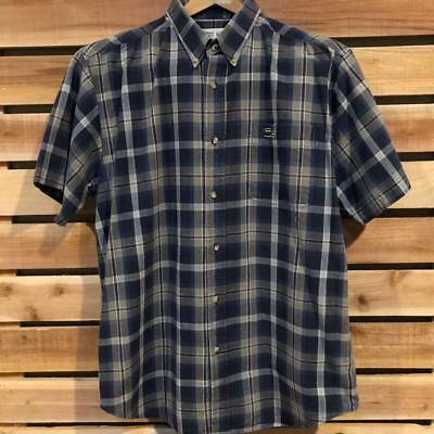 64d04b23c6e9f MENS DISTRESSED CHEMISE Lacoste Made in France Plaid S/S Button Up Shirt XL