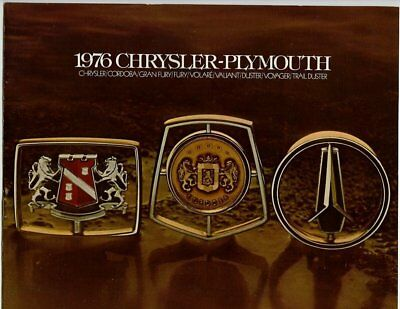 Automobile advertising brochure/booklet, 1976 Chrysler-Plymouth, 19 pages-m27321
