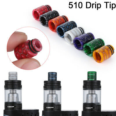 New TFV8 510 Drip Tip Epoxy Snake Skin Resin Mouthpiece Cap for TFV8 Baby Melo 3