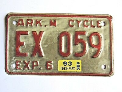 *Pick one* Original Motorcycle License Plate *All are different see photos*