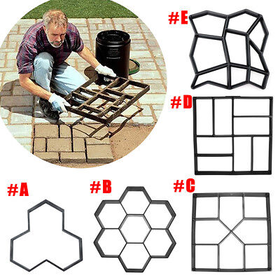 Garden DIY Plastic Path Maker Model Concrete Stepping Stone Cement Mould Brick