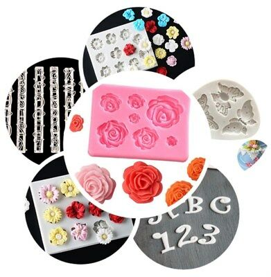 Butterfly&Flower Craft Molds Silicone Cake Decorating Tools/ Small Cupcake Mold