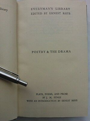 John M Synge.plays-Poems And Prose.hb 1946 Everyman 968,unread