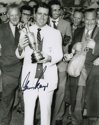 Gary Player, Open Champion 1959 Muirfield, signed 10x8 inch photo. COA.