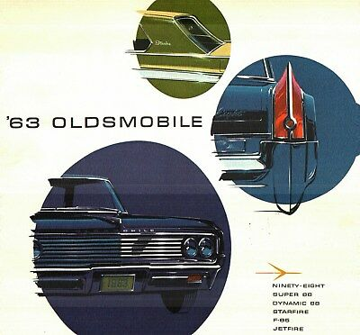 1963 Oldsmobile 98, 88, STARFIRE, CUTLASS, FULL-LINE DELUXE COLOR SALES CATALOG