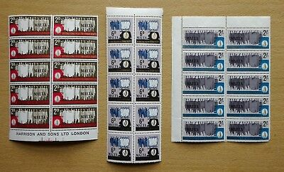 Malta 1968 QEII SG399/400/401, Human Rights Year Set, Blocks of 10, Mint MNH.