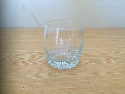 Crown Royal Etched Heavy Base Glass