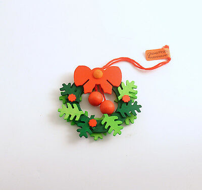 Christmas Ornament Wood Wreath Erzgebirge Germany