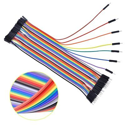 40X Dupont Wire Jumpercables 20cm 2.54MM Male to Female 1P-1P For Arduino LM509
