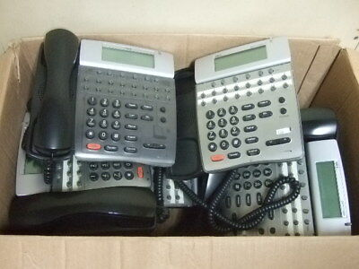 Lot of 7 NEC Electra Elite System Phone Dterm 80 DTH-16D-1(BK) Telephone 1 money