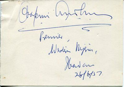 Unknown 1957 Havana Cuba Personality ? Vintage Signed Autograph