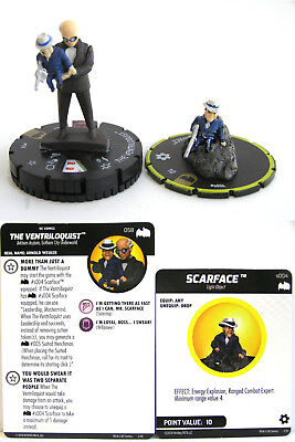 Heroclix - #058 The Ventriloquist with #S004 Scarface Batman the Animated Series
