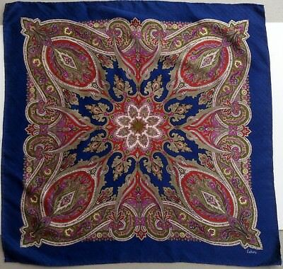 Echo silk scarf gorgeous classic paisley vintage signature background