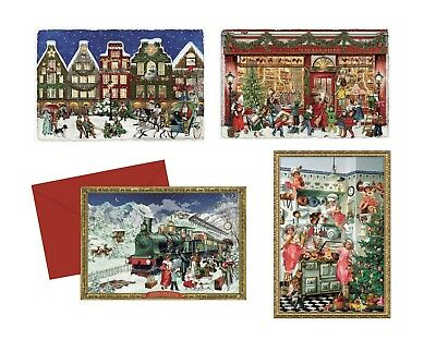 Mini Advent Calendar Card /& envelope traditional german design 105 x 155 mm