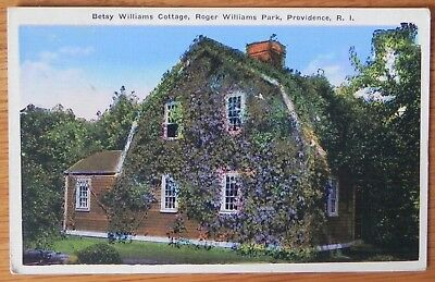 Postcard Betsy Williams Cottage 1915-30 Roger Williams Park Providence R.I. F180