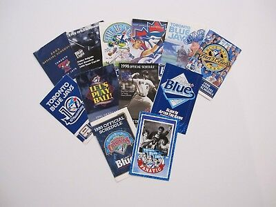 Lot of 12- MLB Baseball's  Toronto Blue Jays Pocket Schedules- 1990's