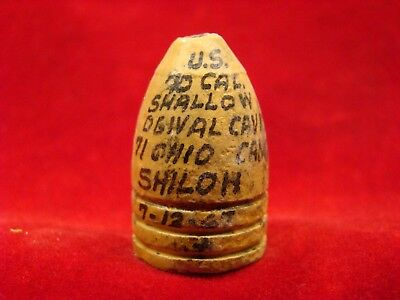 Dug Us .70 Cal. Bullet Found By John Marks At Shiloh In 1967. Camp Of 71St Ohio