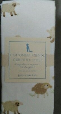 NEW Pottery Barn Kids Cottontail Friends Crib SHEET toddler bed flannel