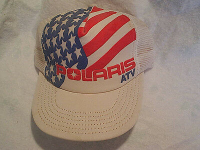 POLARIS ATV CAP Hat stars & stripes, u.s.a. red white and blue,adjustable strap