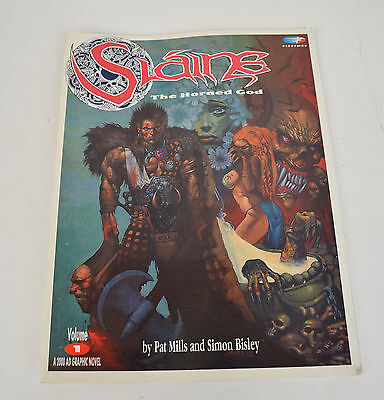 Slaine The Horned God 1 GN Fleetway 2000 AD 1990 FN Simon Bisley 1st print