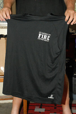 Los Angeles Fire Department Dept Work Out Sleeveless Dry Fit T Shirt Not Uniform
