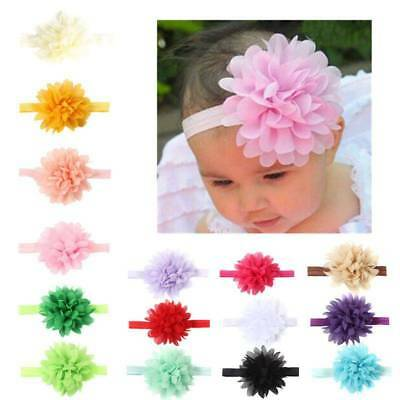 10PCS Newborn Baby Chiffon Flower Band Children Elastic Headband Hair Accessorie