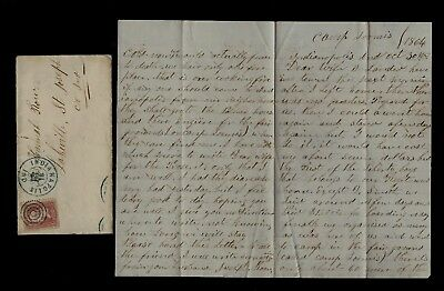 17th Indiana Cavalry CIVIL WAR LETTER Camp in Indianapolis, Going to the Front !