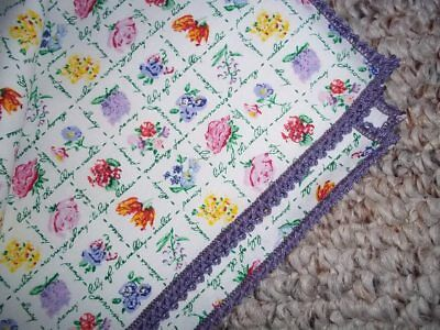 """Longaberger  """"mini  May Flowers  36"""" Table Square Overlay""""- New!"""