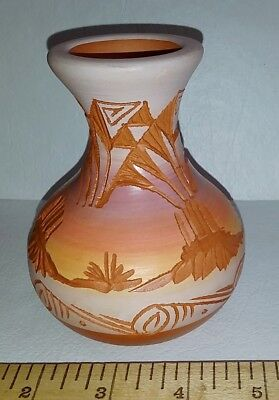VIntag Garden Of The Gods Trading Post PAINTED DESERT Pottery Clay Jar Seed Pot